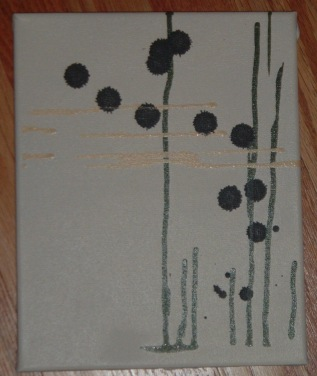 8X10 spray paint on canvas