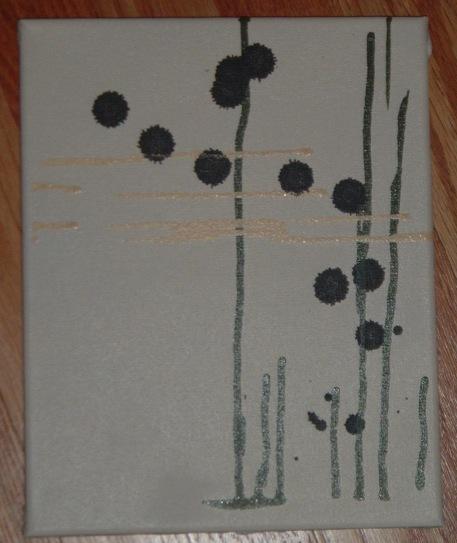 8X10 spray paint on canvas