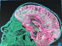 8X10 acryllic and paint marker on canvas